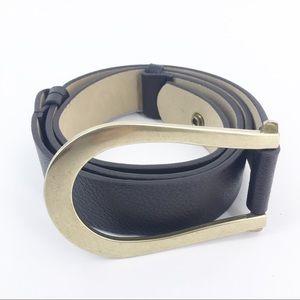 CHICO'S Dark Brown Horseshoe Belt Size S/M